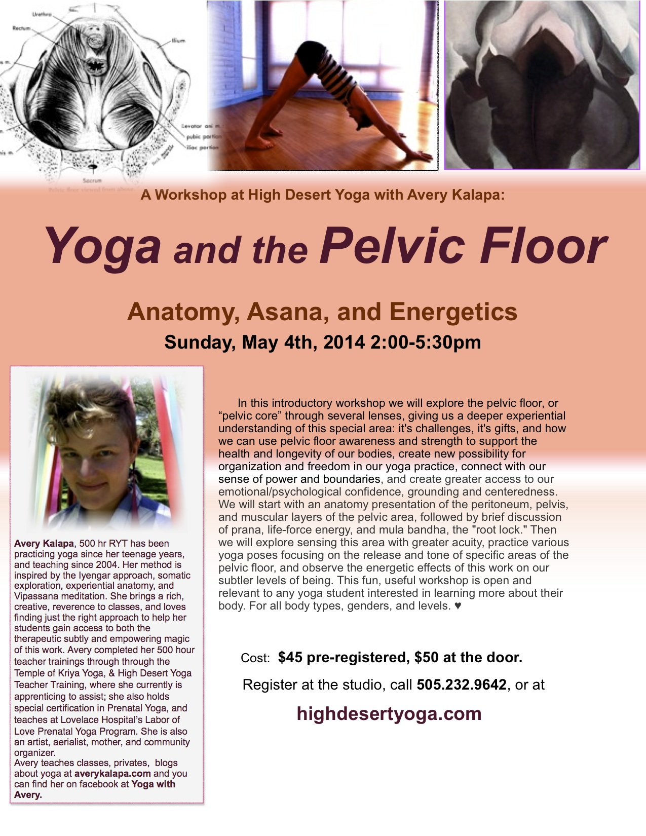 Classes and workshops yoga with avery for Pelvic floor yoga