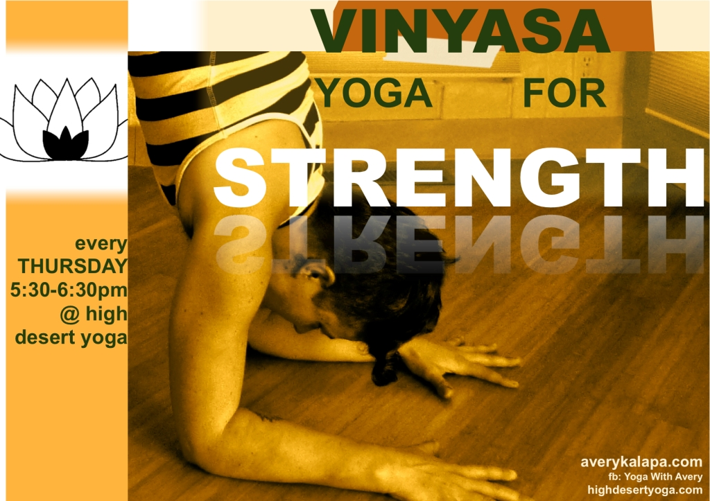 vinyasa for strength flier 1:2014