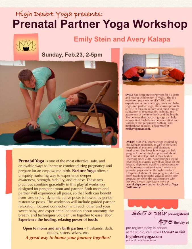 PRENATAL partner yoga flier 2:14