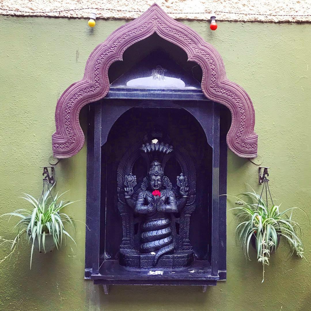 Statue of Lord Patanjali outside the Ramamani Iyengar Memorial Yoga Institute in Pune, India.
